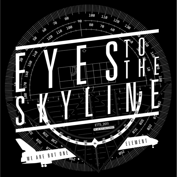 Here's a little design I did for  Eyes to the Skyline 's base drum head. a little spacey, a little info-graphic, a little diagramistic (i made that word up, but it seems to fit)…
