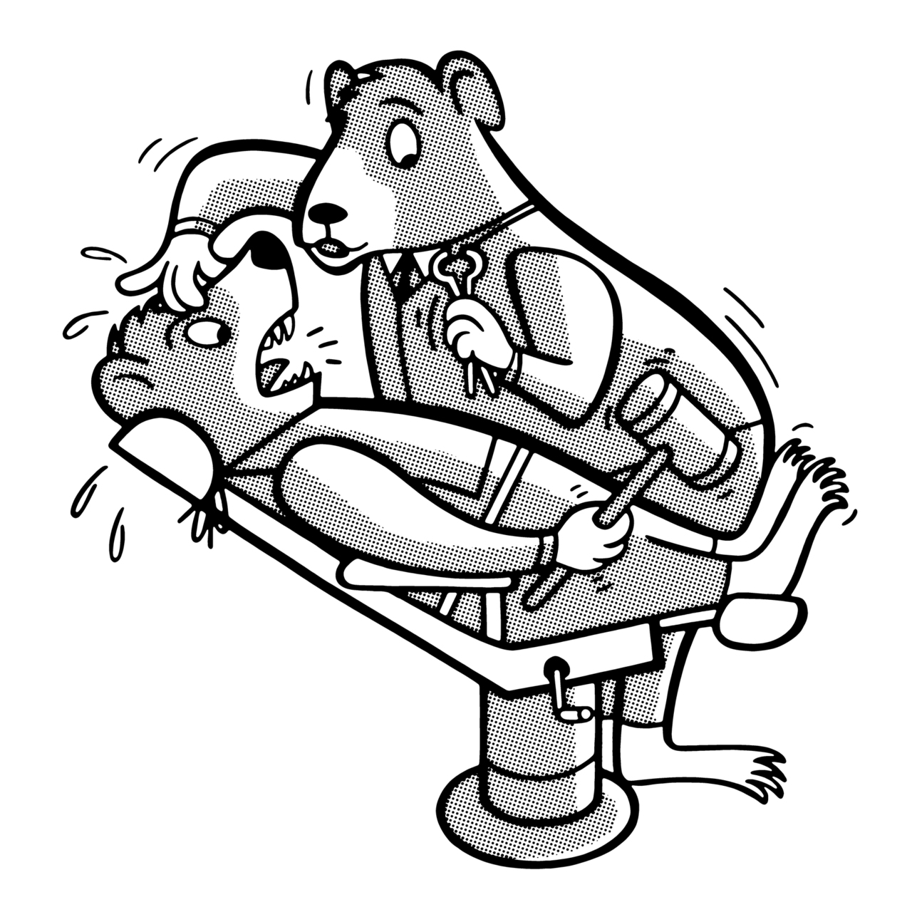 500th Image! This dentist bear is my 500th image drawn at  CSA DESIGN ! You can purchase him  at csaimages.com in about a month. Be sure to check him out!   * All Images Copyright CSA Images, CSA Design, & PoPInk 2010