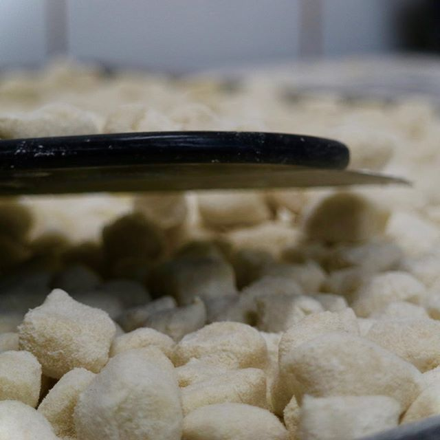 If you want to see our gnocchi machine in action, check out our Facebook page Facebook.com/greenzebraalb