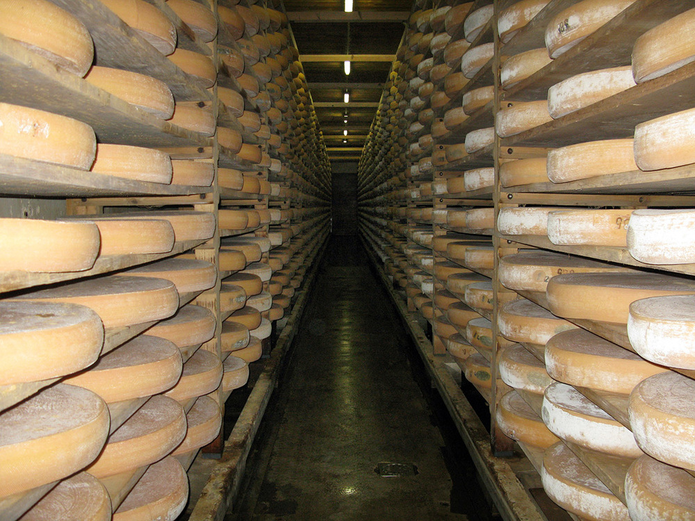 Comte maturing caves