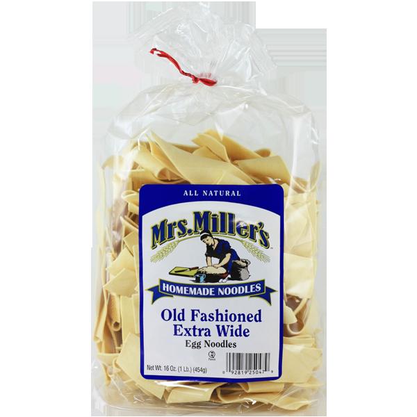 5918dcbefb99 Extra Wide Egg Noodles — Mrs. Miller s Homemade Noodles