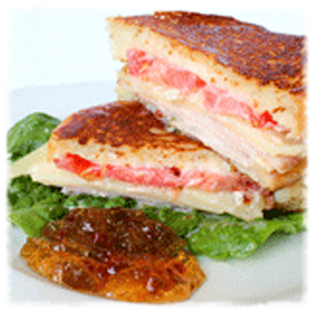 Grilled Turkey Sandwich with Hot Pepper Jelly