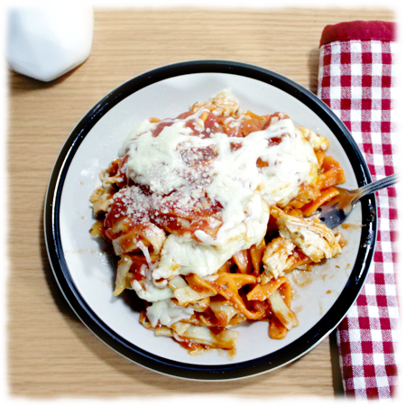 Chicken Parmesan with Noodles