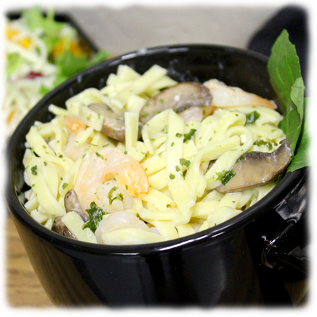 Shrimp & Mushroom Pasta