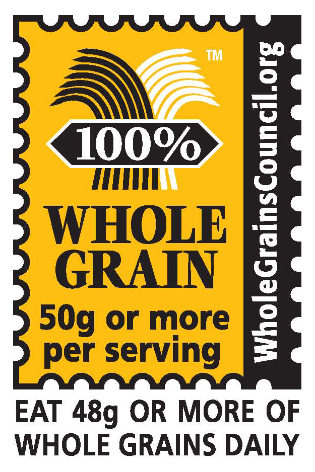 100% Whole Grain Stamp