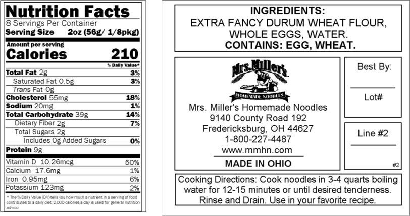 Mrs Millers Old Fashioned Egg Noodles back of bag.png