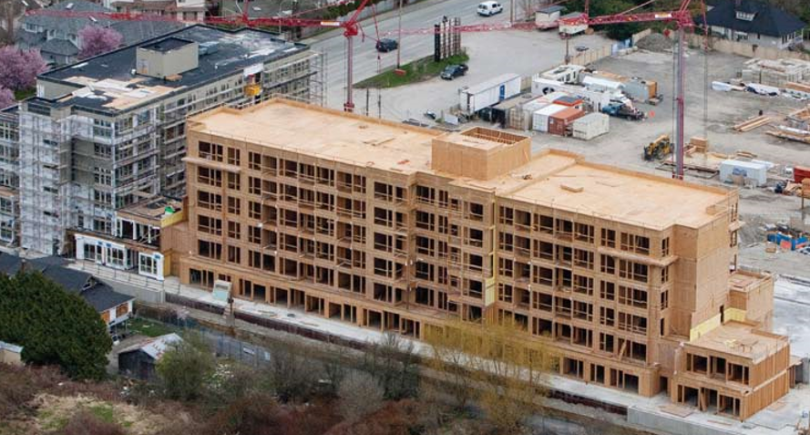 Mid-rise wood-frame construction in BC