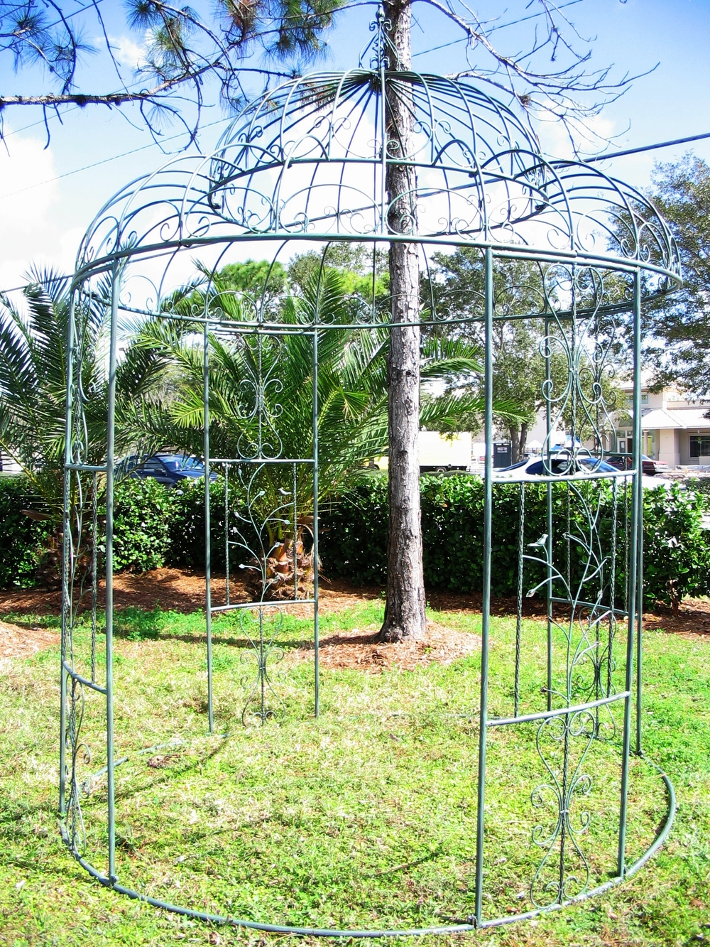 Green Iron Gazebo $350