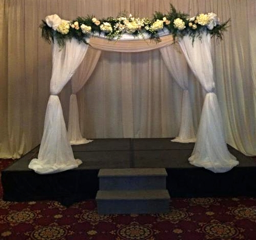 PVC Pipe Chuppah/Gazebo- $250 (Additional charges for Draping, Foliage and Flowers as seen in picture.)