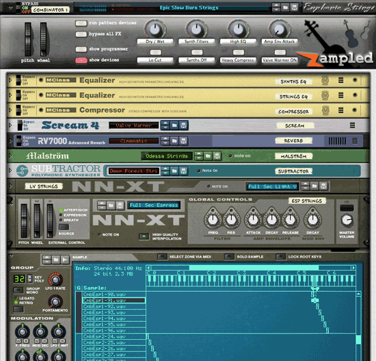 A beautiful, lush 'hybrid' patch featuring a dynamic blend of sampled instruments and expertly programmed synths. See full list of patches here.