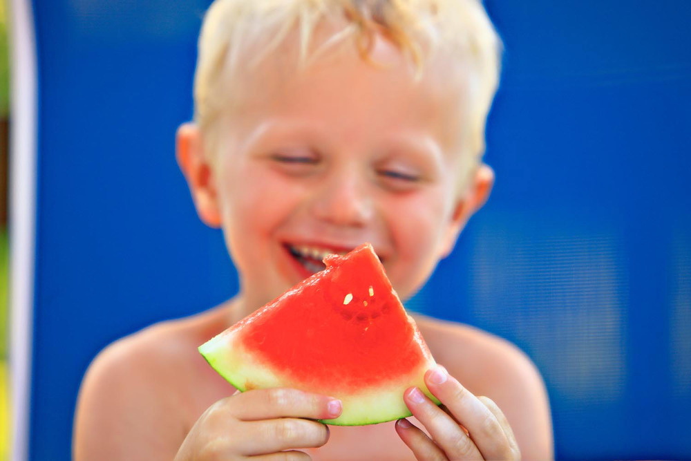 Watermelon and Boy