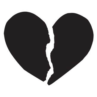 I stole this very nice black and broken heart from a place that sells t-shirts with this image. Click the image to go there and buy one so I won't feel guilty about using it.