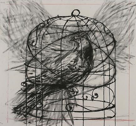 Drawing by  William Kentridge,