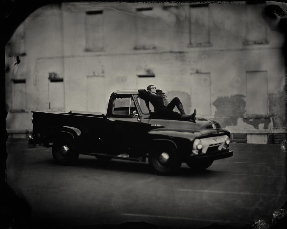 Abigail w/ 1954 Ford F250