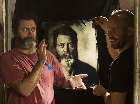 Giles and Nick regarding a freshly minted ambrotype.