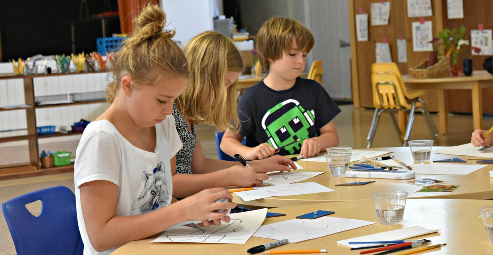 Montessori Academy Batavia Art Class