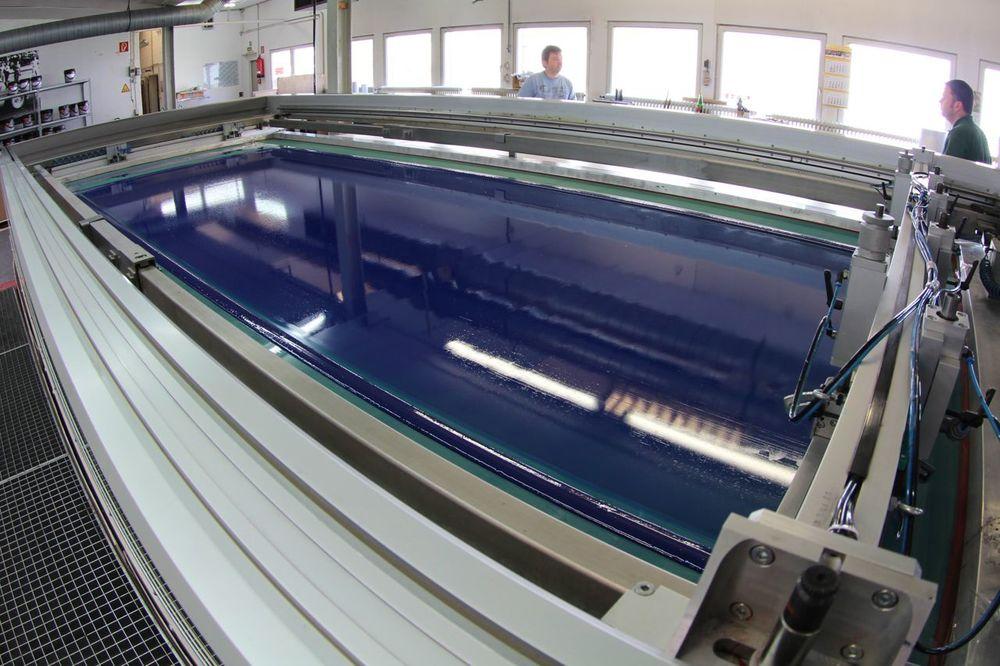 Einfarbsiebdruck im Format 4,0m x 1,5m