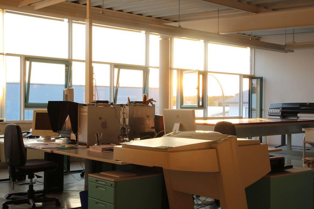 Im Studio der Vorstufe ist viel Platz für Kreativität und Ruhe für Produktivität