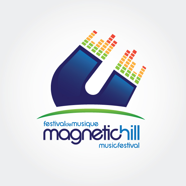 Magnetic Hill Music Festival logo design