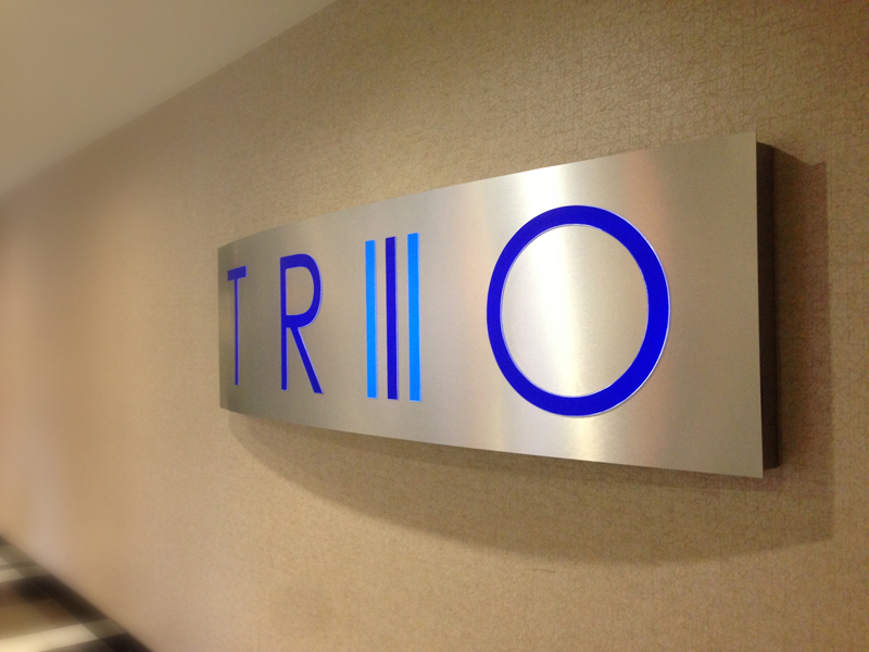 Trio interior signage design