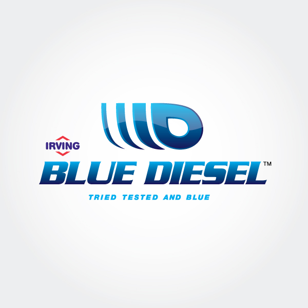 Irving Oil Blue Diesel logo design