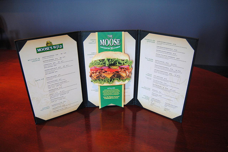 Casino New Brunswick (Moose's Wild) menu redesign with 'The Moose' insert