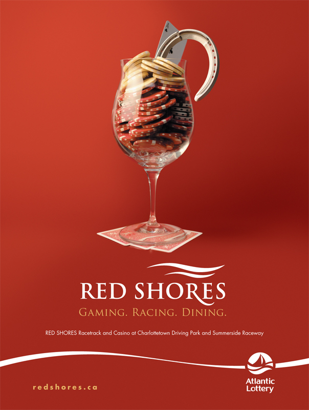 Red Shores 'Glass' print ad