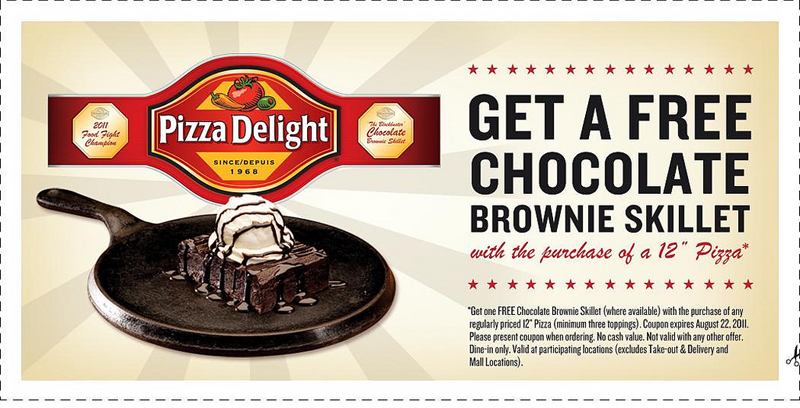 Pizza Delight 'Food Fight' Facebook promotion winning coupon