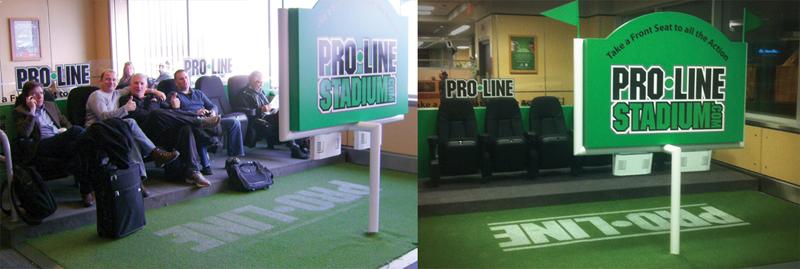 'Pro-Line Stadium' airport ambient installation