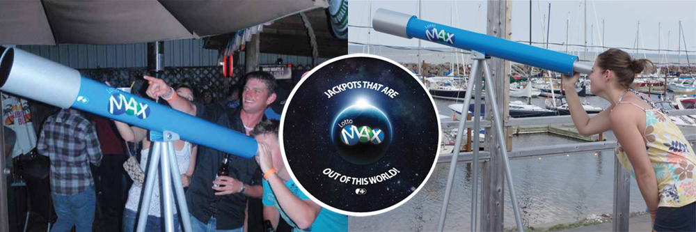 Lotto Max 'Out of this World' ambient installation