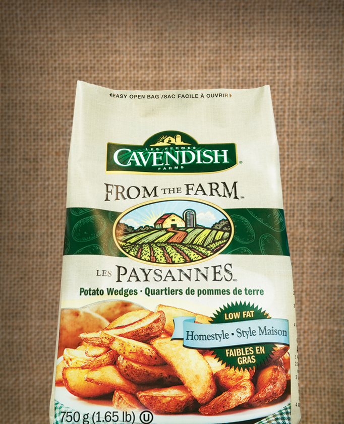Cavendish Farms 'From the Farm' packaging design