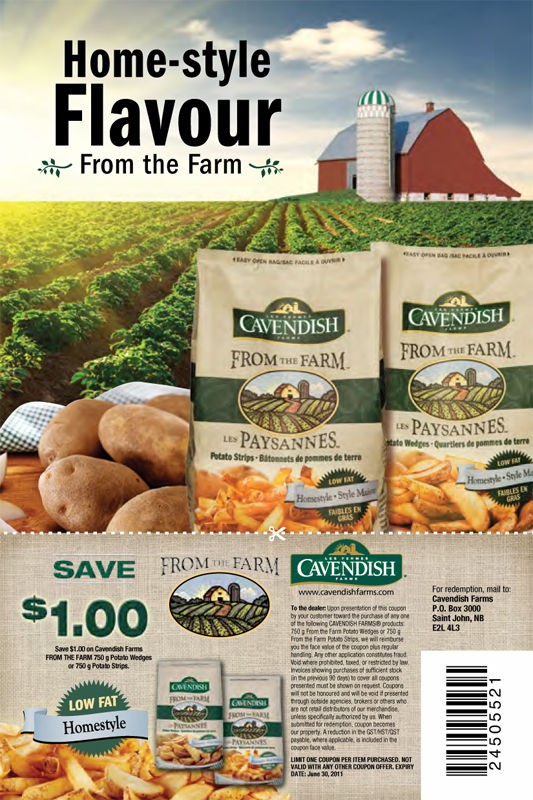 Cavendish Farms ' From the Farm' coupon print campaign