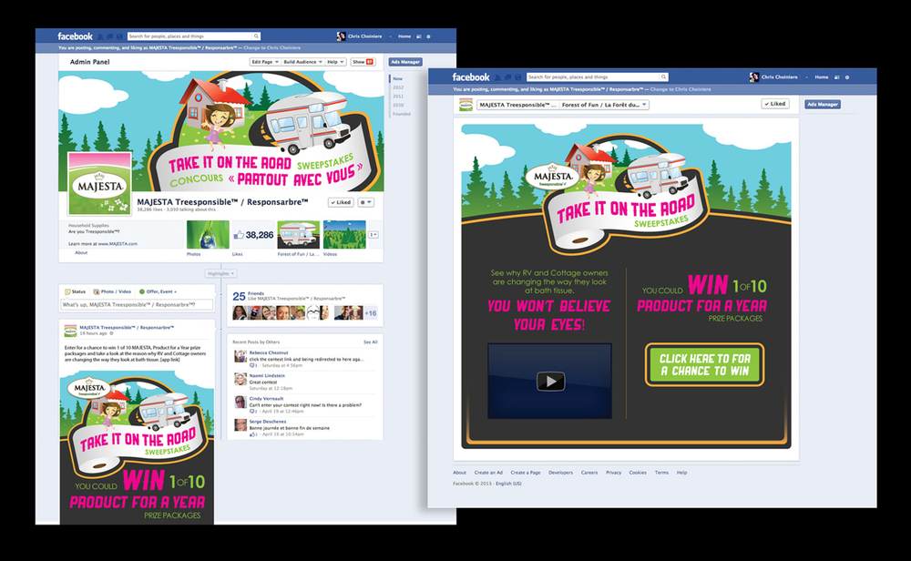 Majesta 'Take it on the Road Challenge' Facebook promotion