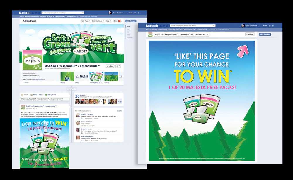 Majesta 'Soft & Green' Facebook promotion