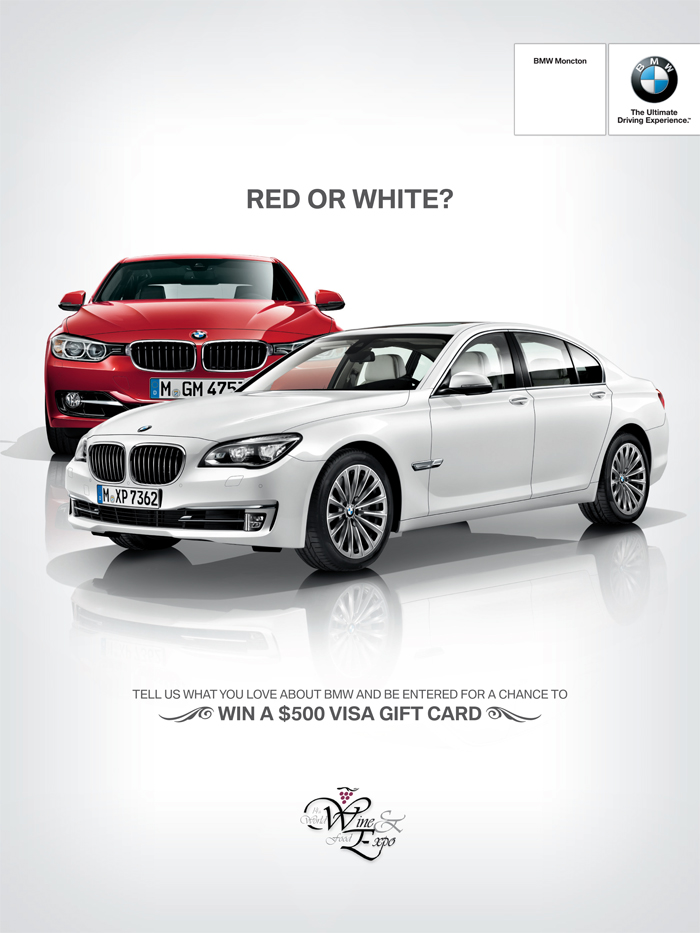 BMW Moncton wine expo sponsorship ad