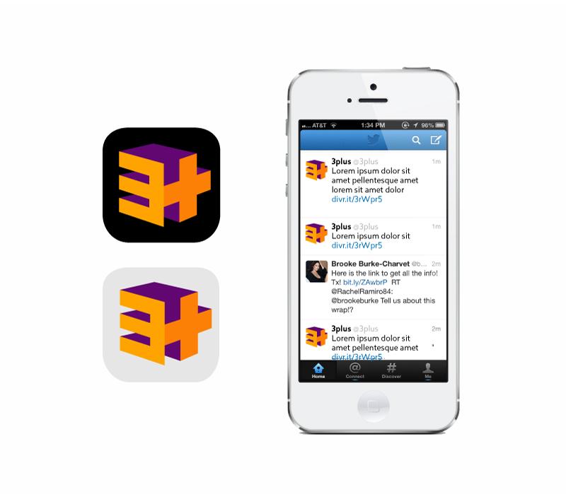 3plus social icons