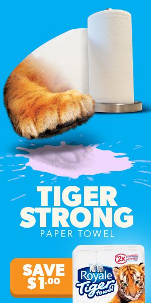 Tiger Towel Online Ad
