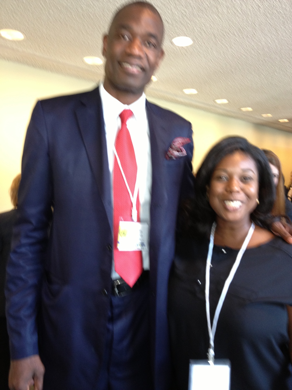 LPS anticipates welcoming Mr. Dikembe Mutombo to Liberia.