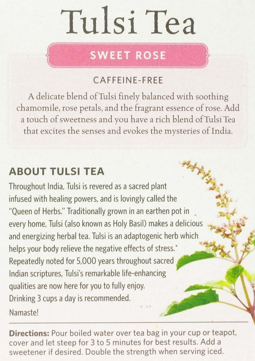 Sarah recommended this soothing sweet rose tea and we are in love! The ultimate destress-er!