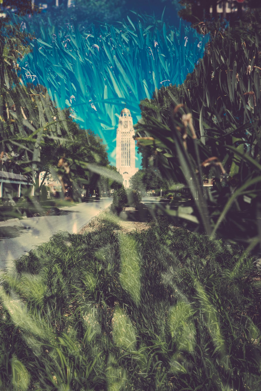 Nebraska Capital Building. Double Exposure. $15 for 8.5x11. $25 for 16x20. $35 for 17x22.