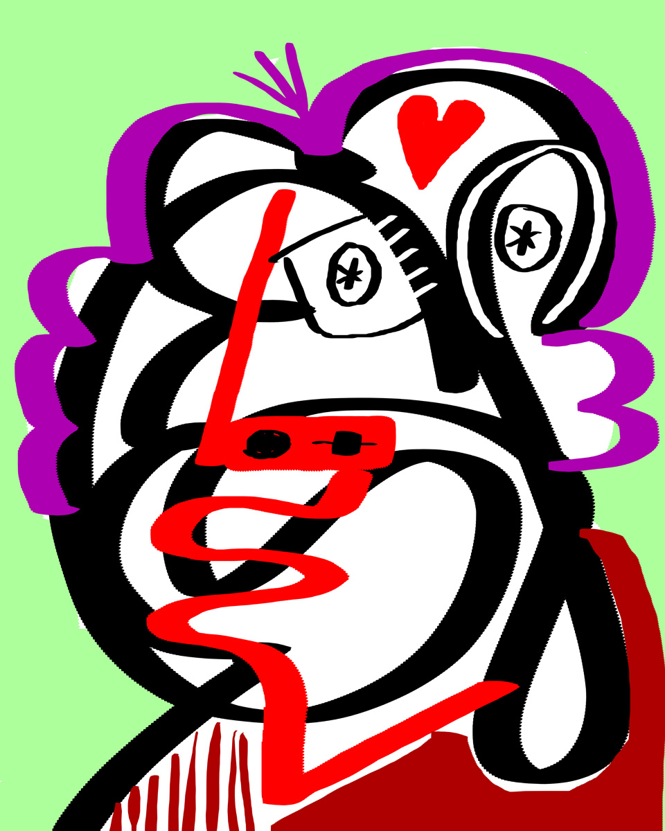 """""""She loves all"""", digital, 2014, one print available"""