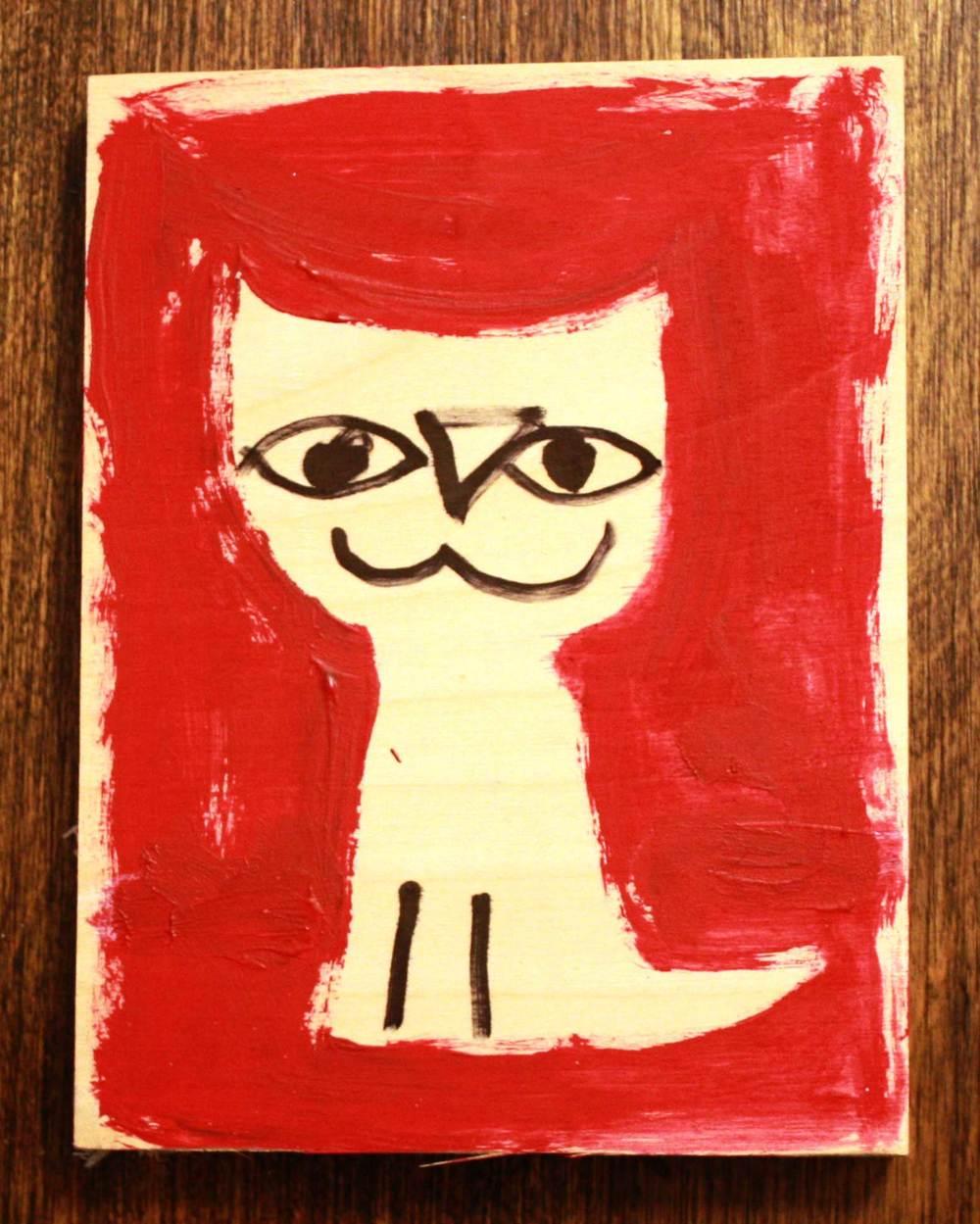 Cat illustration for an art scavenger hunt in Leominster, MA
