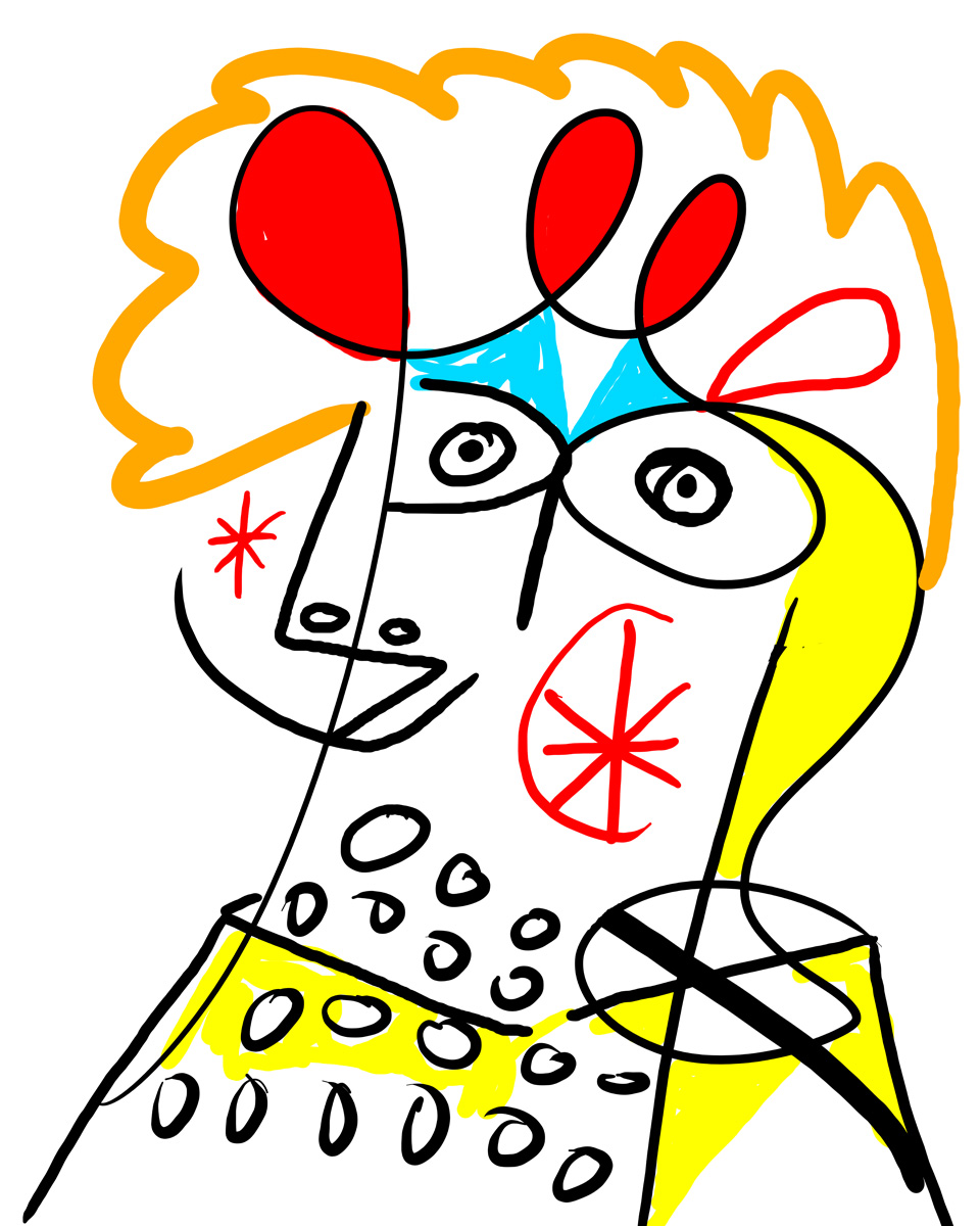 """""""Smiling person"""", 2014, spontaneous drawing by Matt Vaillette"""