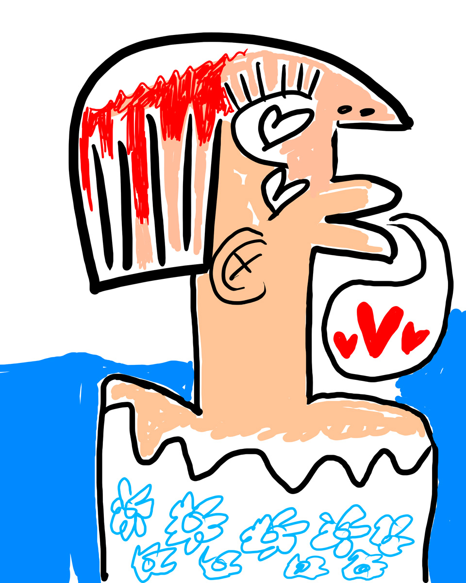"""Word of mouth"", digital illustration by Matt Vaillette, 2014."
