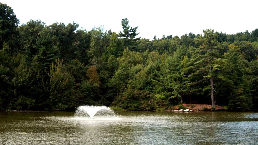 Beautiful photo of Colburn Pond at Barrett Park in Leominster, MA