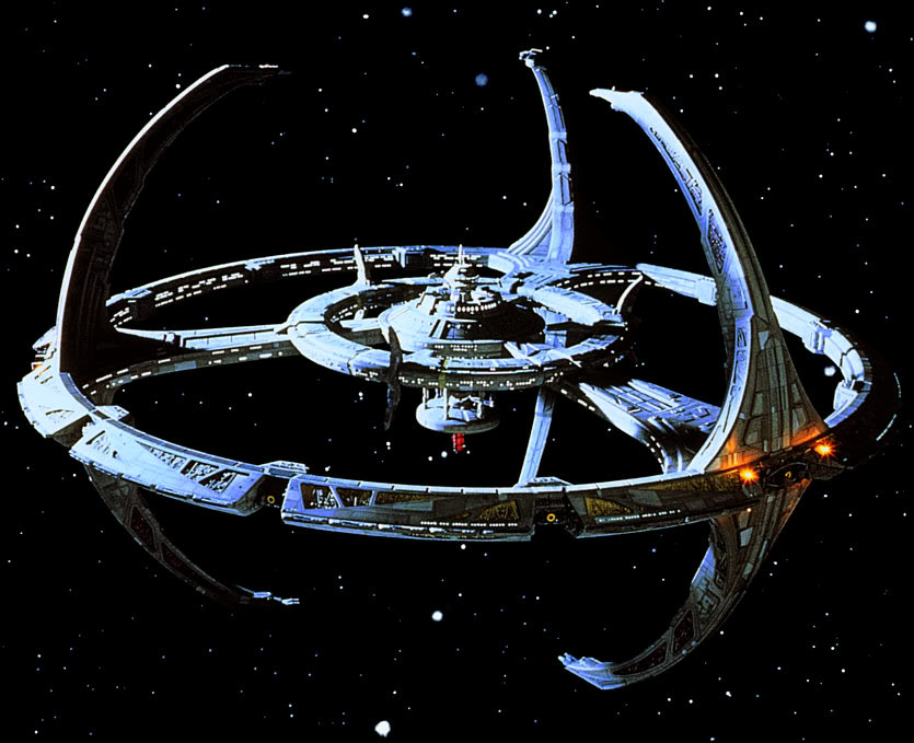 "The space station ""Deep Space Nine"", in TV show ""Star Trek: DS9""."