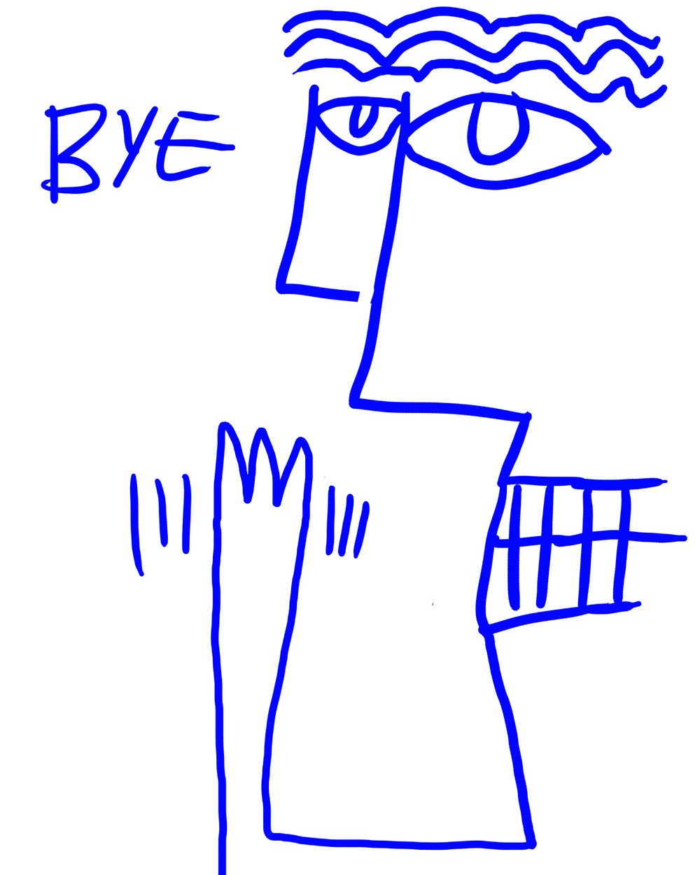 """bye!""portrait doodle by by Matt Vaillette"