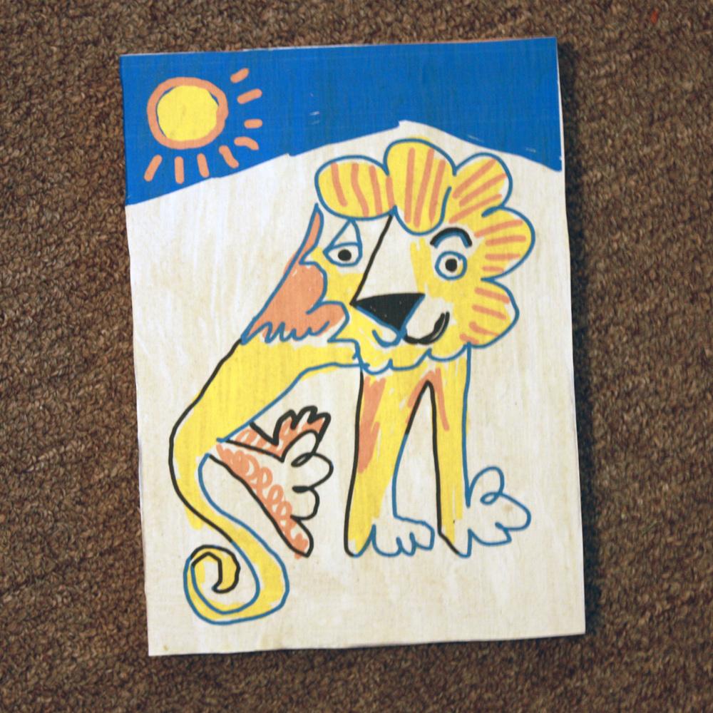 A happy lion. Art print by Matt Vaillette
