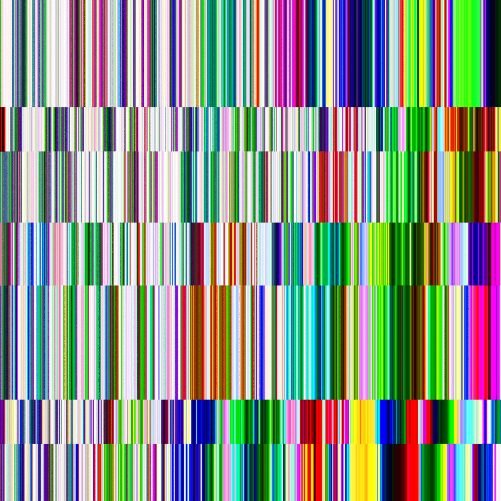 A glitch art happy rainbow!