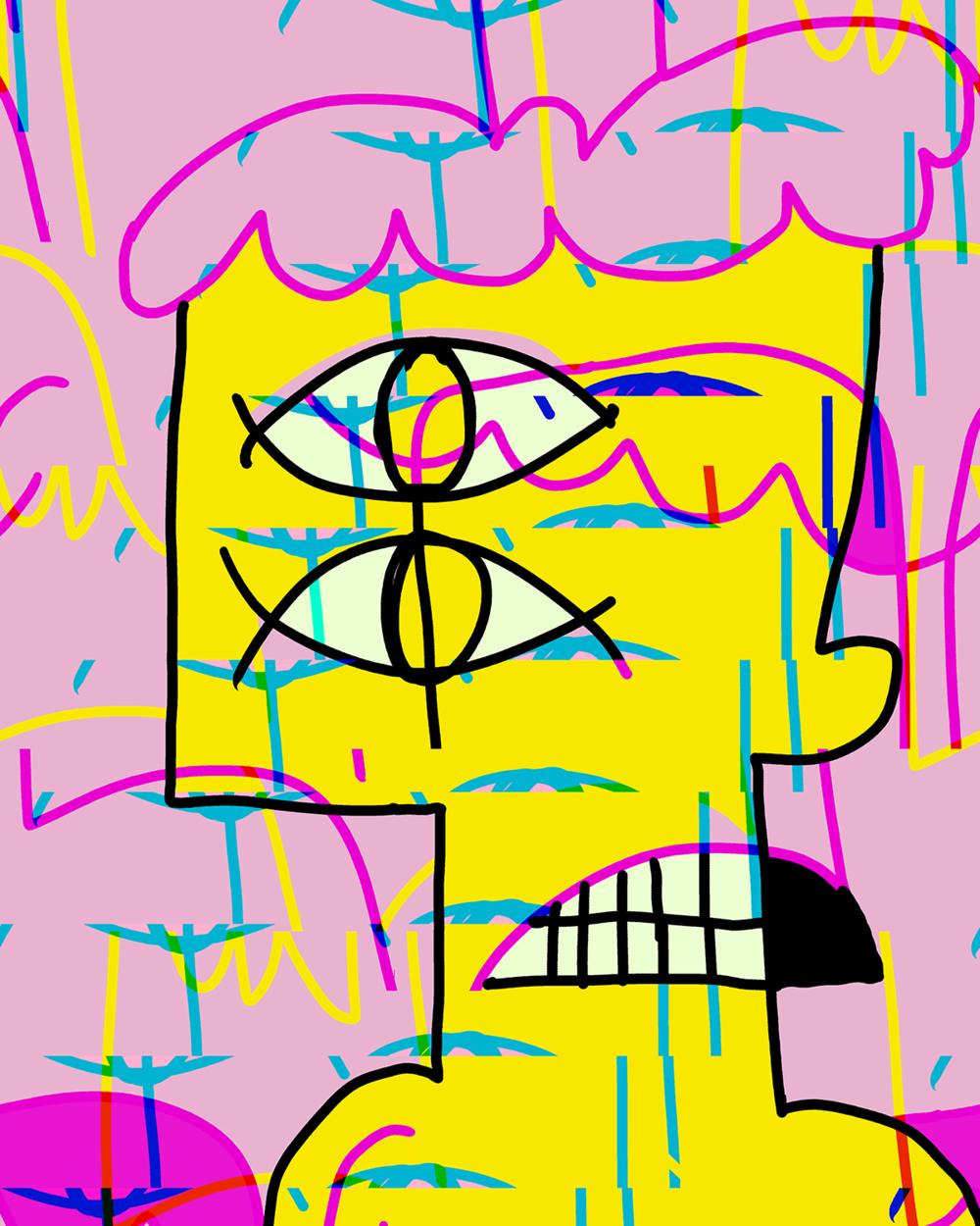 """""""Scratch 333 (glitched 11p7223625)"""" by Matt Vaillette"""